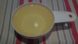 1/2 xícara (chá) de óleo